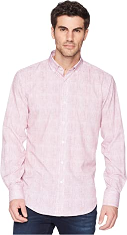 Shaped Fit Performance Crosshatch Woven Shirt