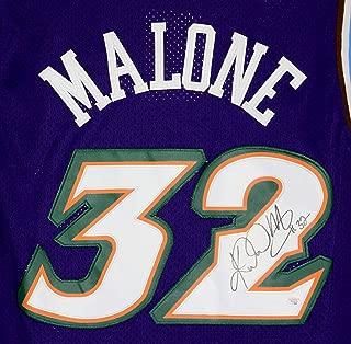Karl Malone Utah Jazz Signed Autographed Purple #32 Jersey PAAS COA
