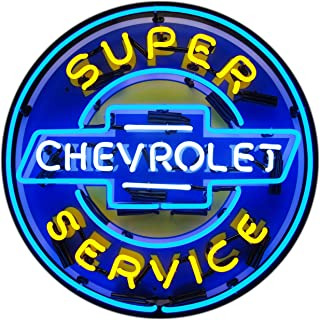 Neonetics 5CHEVYB Super Chevrolet Service Chevy Neon Sign with Backing