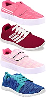 Camfoot Women's (5048-9030-9031-1162) Multicolor Casual Sports Running Shoes (Set of 4 Pair)