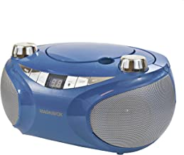 MAGNAVOX MD6949-BL Portable Top Loading CD Boombox with AM/FM Stereo Radio and Bluetooth Wireless Technology in Blue | CD-...