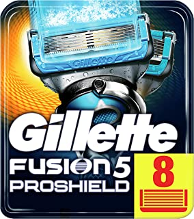 Gillette Fusion5 ProShield Chill Razor Blades for Men, 8 Refills with Cooling Technology, Mailbox Sized Pack