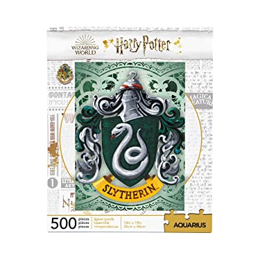 AQUARIUS Harry Potter Puzzle Slytherin Crest (500 Piece Jigsaw Puzzle) - Officially Licensed Harry Potter Merchandise & Collectibles - Glare Free - Precision Fit - Virtually No Puzzle Dust - 14x19in