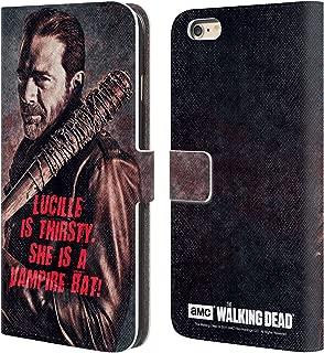 Official AMC The Walking Dead Lucille Vampire Bat Negan Leather Book Wallet Case Cover Compatible for iPhone 6 Plus/iPhone 6s Plus
