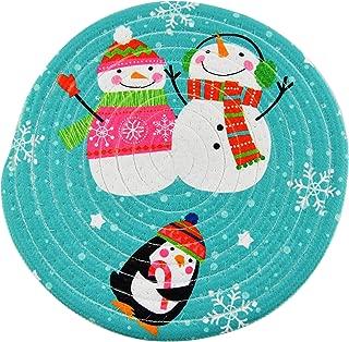 HOME-X Snowman Christmas Trivet, Hot Pad Pot Holder Decoration, Vintage Kitchen Tool