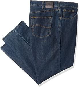 Lee Herren Big-Tall Fleece Lined Relaxed Fit Straight Leg Jeans