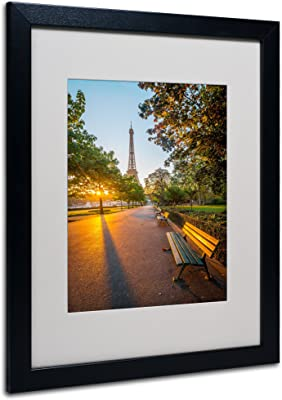 Crazy Morning Light Paris Artwork by Mathieu Rivrin, 16 by 20-Inch, Black Frame