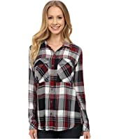 KUT from the Kloth - Nora Plaid Utility Blouse