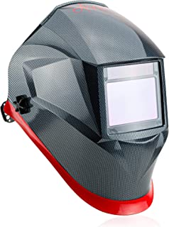 Welding Helmet by Aver | Auto Darkening Welder Helmet Lens Solar Powered Graphic Carbon..