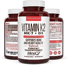 Vitamin K2 180 Mcg with D3 5000 IU – Vitamin D3 K2 MK7 Supplement for Healthy Bones, Healthy Heart & Cardiovascular Health- MenaQ7 Vitamin K Complex- 60 Capsules