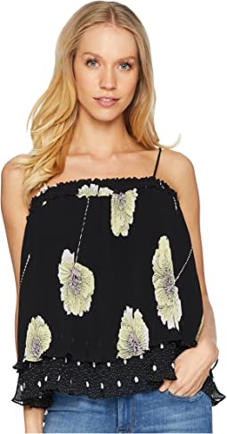 Mixed Print Pleated Cami