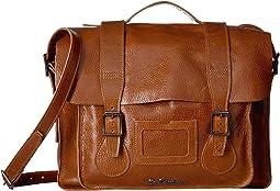 """15"""" Leather Satchel"""