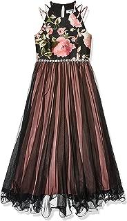 Girls' Mikado Glitter Belt Dress