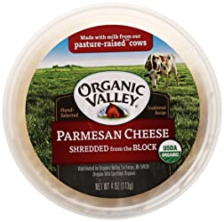 Organic Valley, Organic Shredded Parmesan Cheese, 4 Ounces