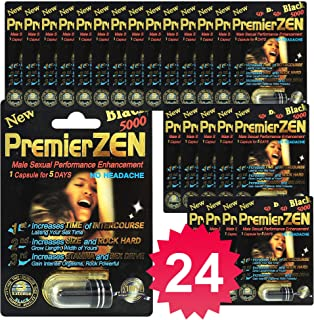 PremierZen Black 5000 24-Pills Male Enhancement Pill - Fast US Shipping