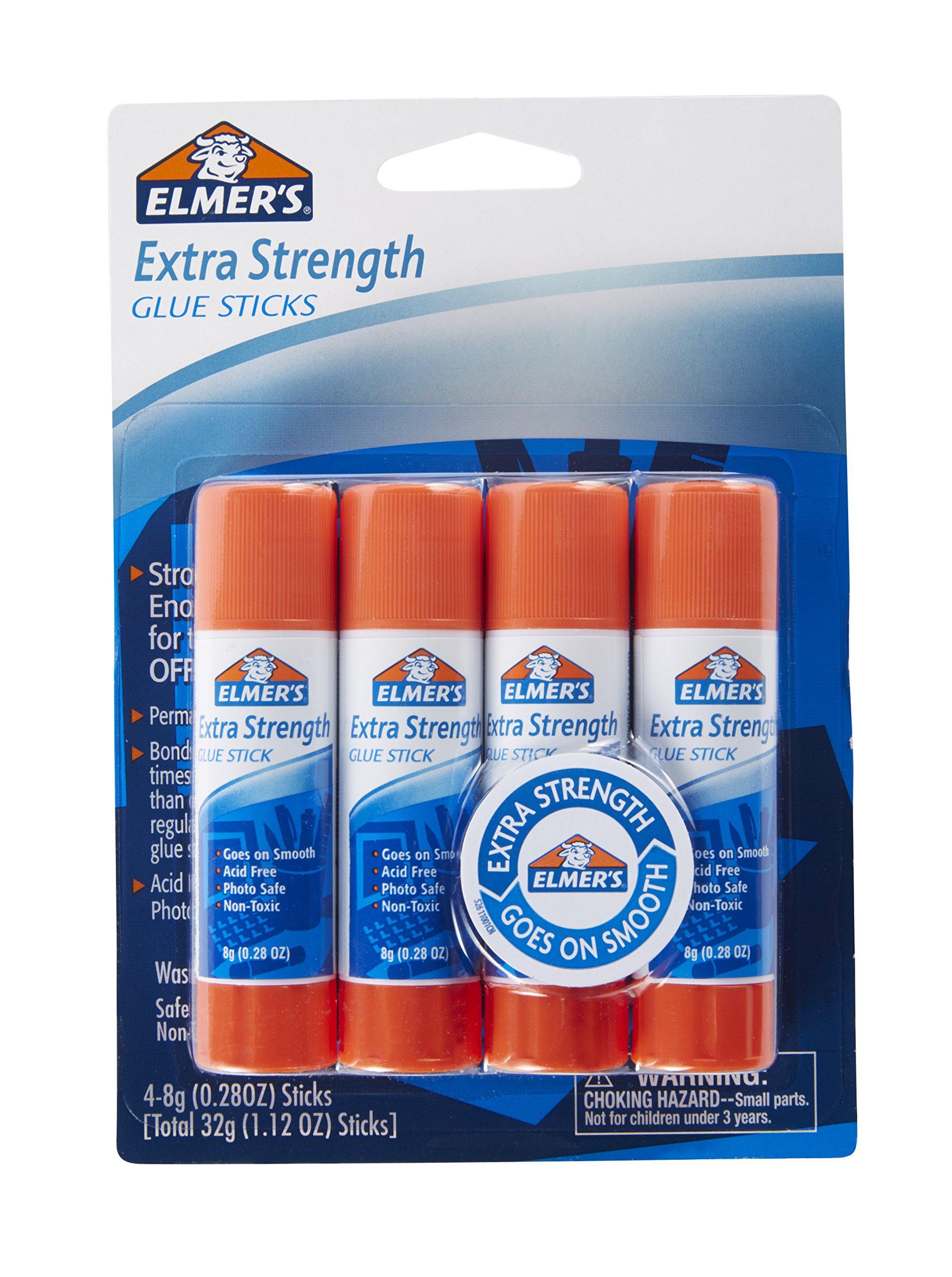 Elmers Extra Strength Glue Sticks, 0.28 Ounces, 4 Count