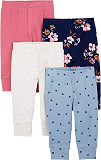 Simple Joys by Carter's Baby Girls' 4-Pack Cotton Pants