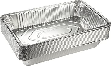Aluminum Foil Pans - 15-Piece Full-Size Deep Chafing Pans, Disposable Steam Table Pans for Baking, Serving, Roasting, Broi...