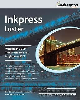 INKPRESS MEDIA Luster 240 GSM, 10.4 Mil, 94 Percent Bright Paper (#PCL5750)