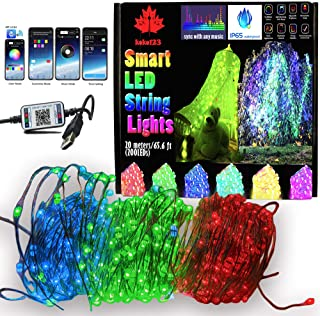 65.6FT/20M Smart 200LEDs String Lights with Music SYNC,16 Million Colors,29 Dynamic Modes, APP Control, Brightness & Speed...