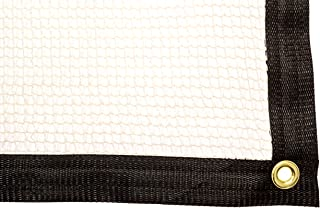 Be Cool Solutions 50% White Outdoor Sun Shade Canopy: UV Protection Shade Cloth| Lightweight, Easy Setup Mesh Canopy Cover with Grommets| Sturdy, Durable Shade Fabric for Garden, Patio & Porch 6'x12'