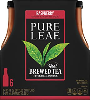 Pure Leaf Iced Tea, Raspberry Black Tea, 18.5 oz (Pack of 6)