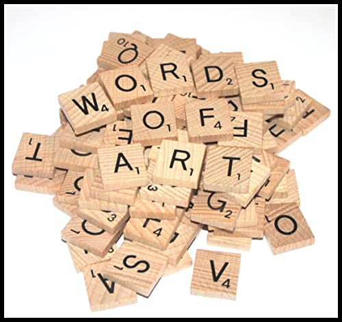 500 Wooden Word Game Letter Alphabetical Tiles of Your Choice (pick 'n' mix) Pick your own Letters