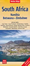 South Africa, Namibia, Botswana & Zimbabwe 1:2,500,000 Travel Map, waterproof NELLES
