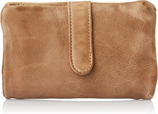 Stitch & Hide Women's Washed Leather - Newport wallet Wallets, Taupe, One Size