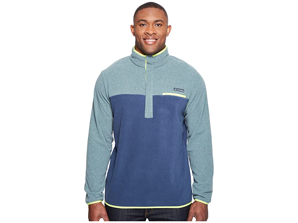 Columbia Big Tall Mountain Side Fleece Jacket (Pond Heather/Zinc/Voltage) Men
