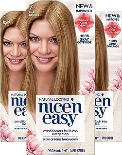Clairol Nice'n Easy Permanent Hair Color, 7 Dark Blonde, Pack of 3
