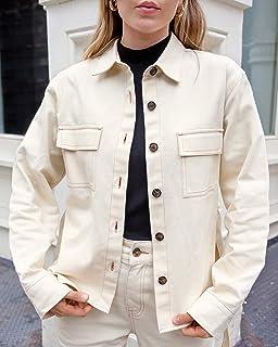 The Drop Women's Ecru Loose Long Sleeve Waist Tie Utility Jacket by @viktoria.dahlberg
