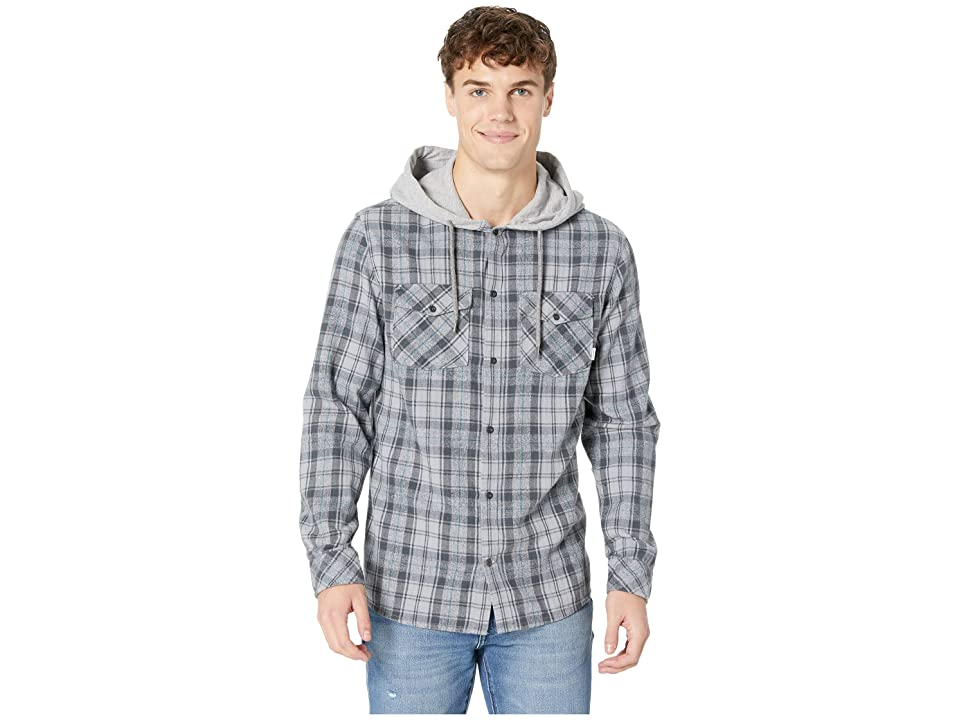 Quiksilver The Magston Hooded Flannel (Iron Gate) Men