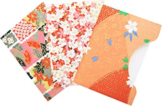 Japanese Premium Oil Blotting Papers, Assorted Yuzen Design Patterns, 300 sheets, 4.13 x 2.95 inches, Type C (Set of 3)