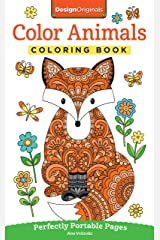 Color Animals Coloring Book: Perfectly Portable Pages (On-the-Go! Coloring Book) (Design Originals) Paperback