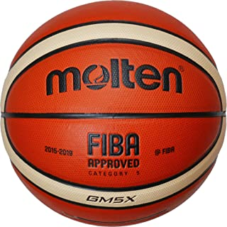 Molten GM5X Basketball (BGM5X) Composite Leather FIBA Approved Size 5 by Molten