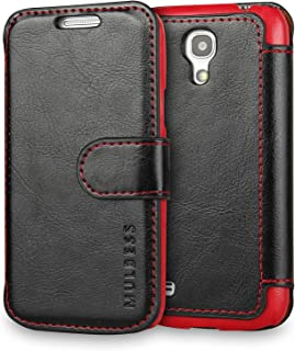 Galaxy S4 Mini Case Wallet,Mulbess [Layered Dandy][Vintage Series][Black] - [Ultra Slim] [Wallet Case] - Leather Flip Cover with Credit Card Slot for Samsung Galaxy S4 Mini GT-I9190