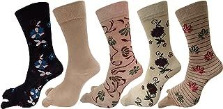RC. ROYAL CLASS Women's Calf Length Floral Design Thumb Cotton Pack of 5 Socks Multicolour