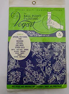 VOGART Vintage Multi-Transfer Patterns for Ball Point Painting 4 Sheets of Special Patterns!