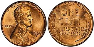 1958 d penny uncirculated