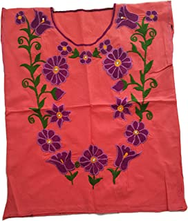 Ambar Chanty Bejewelded Flowers 墨西哥刺绣衬衫 - 正品手工制作雪纺刺绣