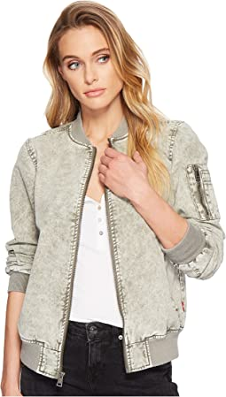 Acid Wash Cotton Flight Bomber