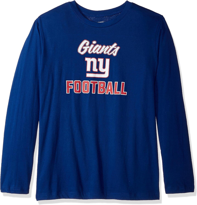 NFL Womens Giants L S Scoop Neck Tee