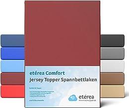 etérea Jersey Topper Boxspringbett Spannbettlaken, Spannbetttuch, Bettlaken - 100% Baumwolle für eine Topperhöhe von 5 bis...