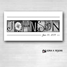 Personalized wedding gifts, Wedding Name Sign, Family Name Established Sign, Personalized Alphabet Photography, Custom Name Sign, Closing gifts, Choose Framed or Unframed 10x20