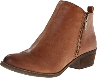 Lucky Brand womens Basel Ankle Boot, Toffee, 8 W US