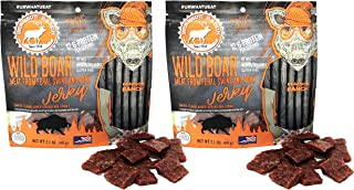 Pearson Ranch 2.1oz Wild Boar Jerky – Pack of 2 – 2.1oz Bags of Bite Size Jerky Pieces – Gluten-Free, No MSG, Paleo and Keto Friendly