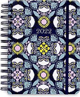 $24 » Vera Bradley 2021-2022 Medium Planner Daily Weekly & Monthly, 17 Month Hardcover Agenda Dated Aug 2021-Dec 2022, Organizer...