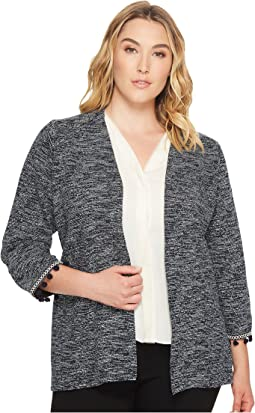 Plus Size Maren Kimono Jacket with Trim