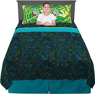 Franco Kids Bedding Sheet Set, 4 Piece Full Size, Rick and Morty